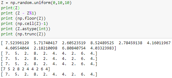 Extract Values From Numpy Array