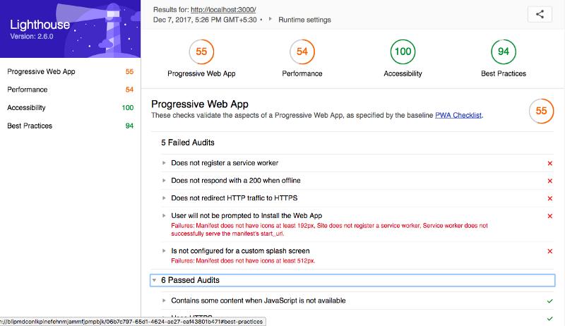 Build a Progressive Web App using React