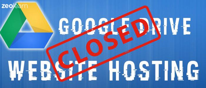 Google shutting down its Drive Web Hosting Service